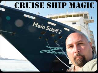 check out the all new cruise ship show featuring underwater magic.